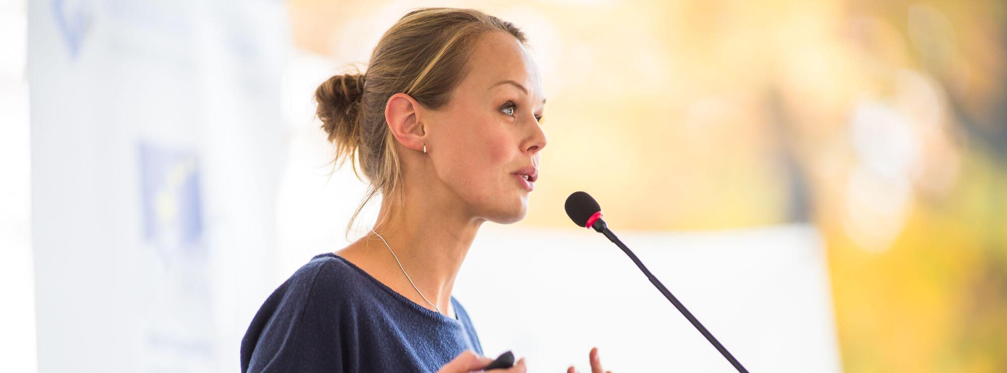 training leren presenteren en speeches houden